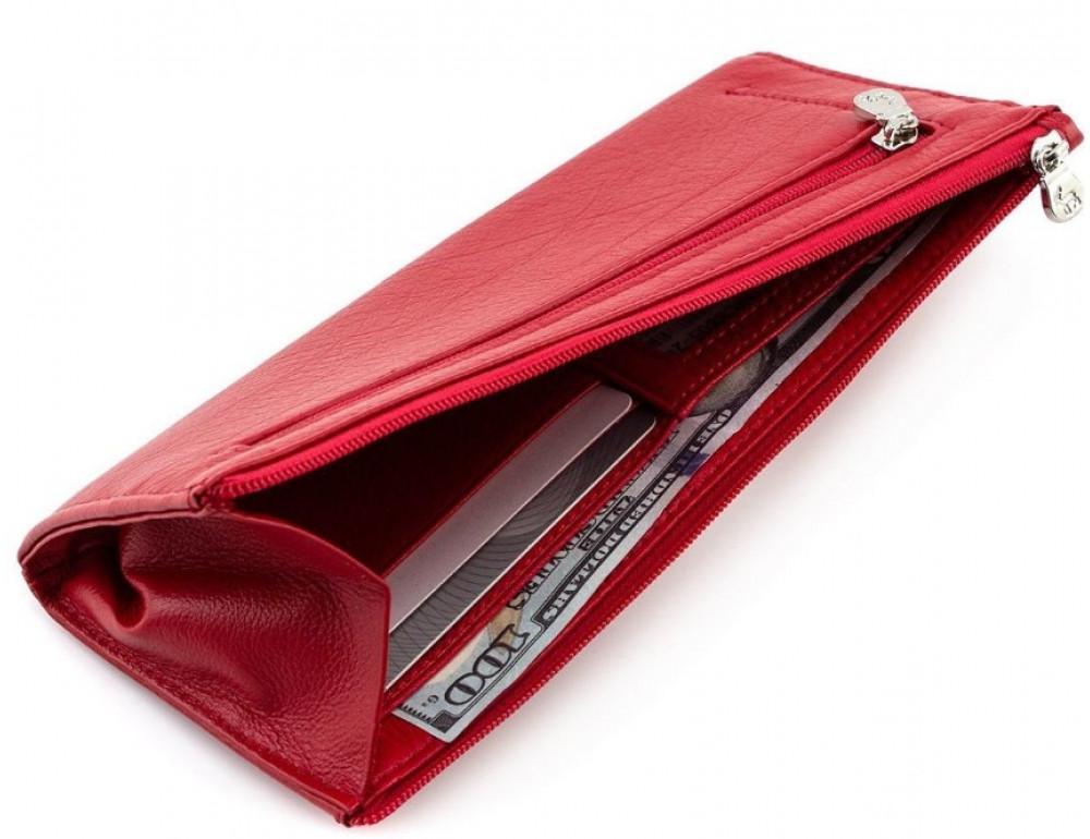 Женский кожаный кошелек Marco Coverna 8805-2 красный - Фото № 4