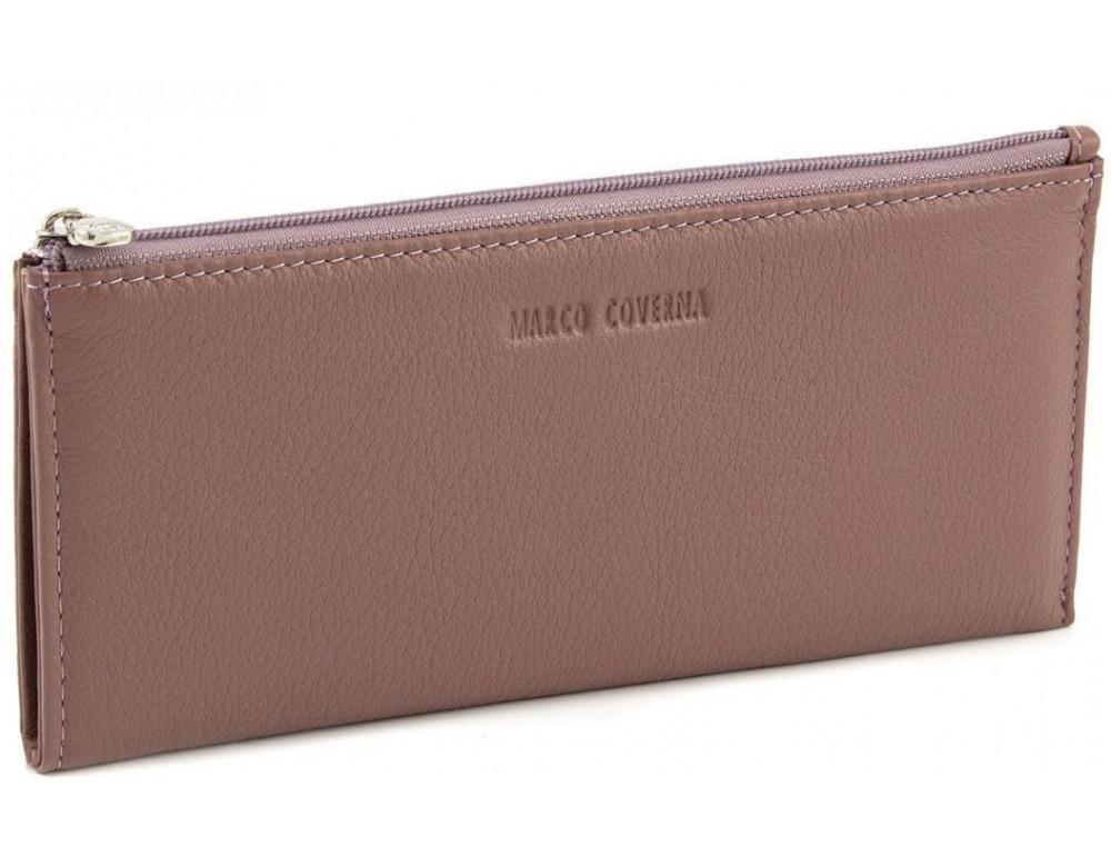 Жіночий шкіряний гаманець Marco Coverna 8805-6 темна-пудра