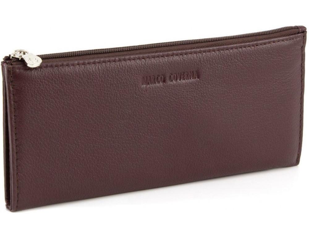 Женский кожаный кошелек Marco Coverna 8805-8 коричневый - Фото № 1