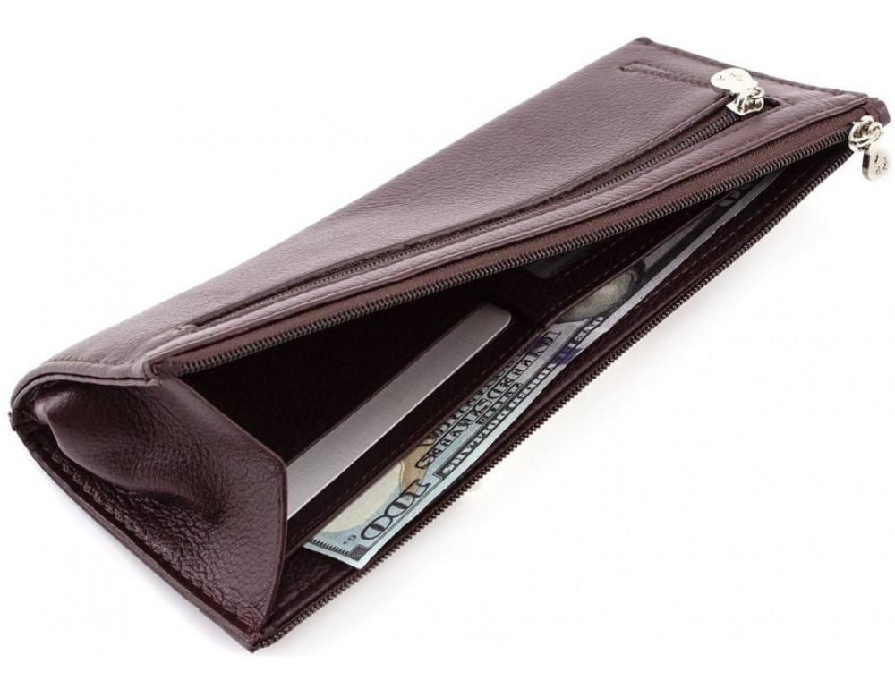Женский кожаный кошелек Marco Coverna 8805-8 коричневый - Фото № 4