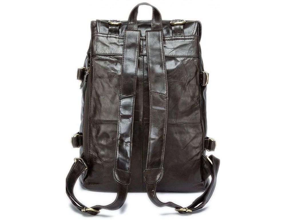 Серо-коричневый кожаный рюкзак JASPER MAINE 8818BG - Фото № 2
