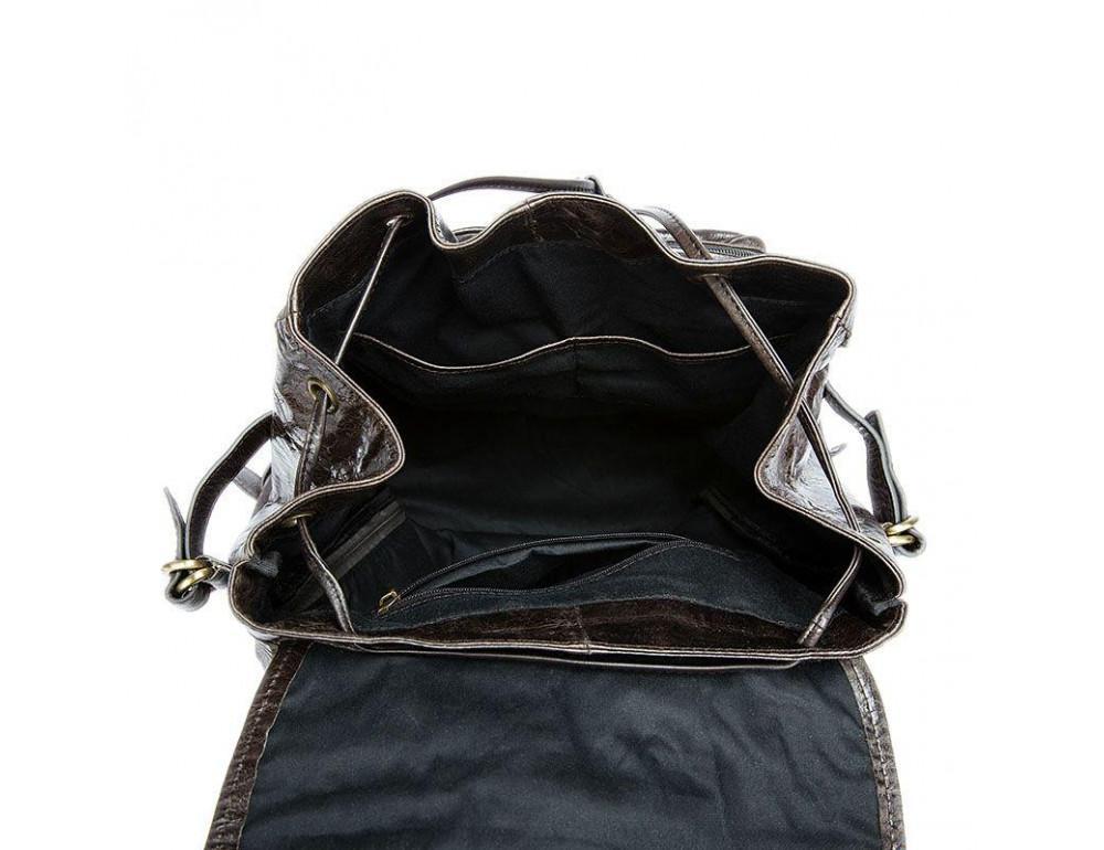 Серо-коричневый кожаный рюкзак JASPER MAINE 8818BG - Фото № 3