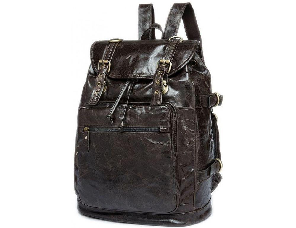 Серо-коричневый кожаный рюкзак JASPER MAINE 8818BG