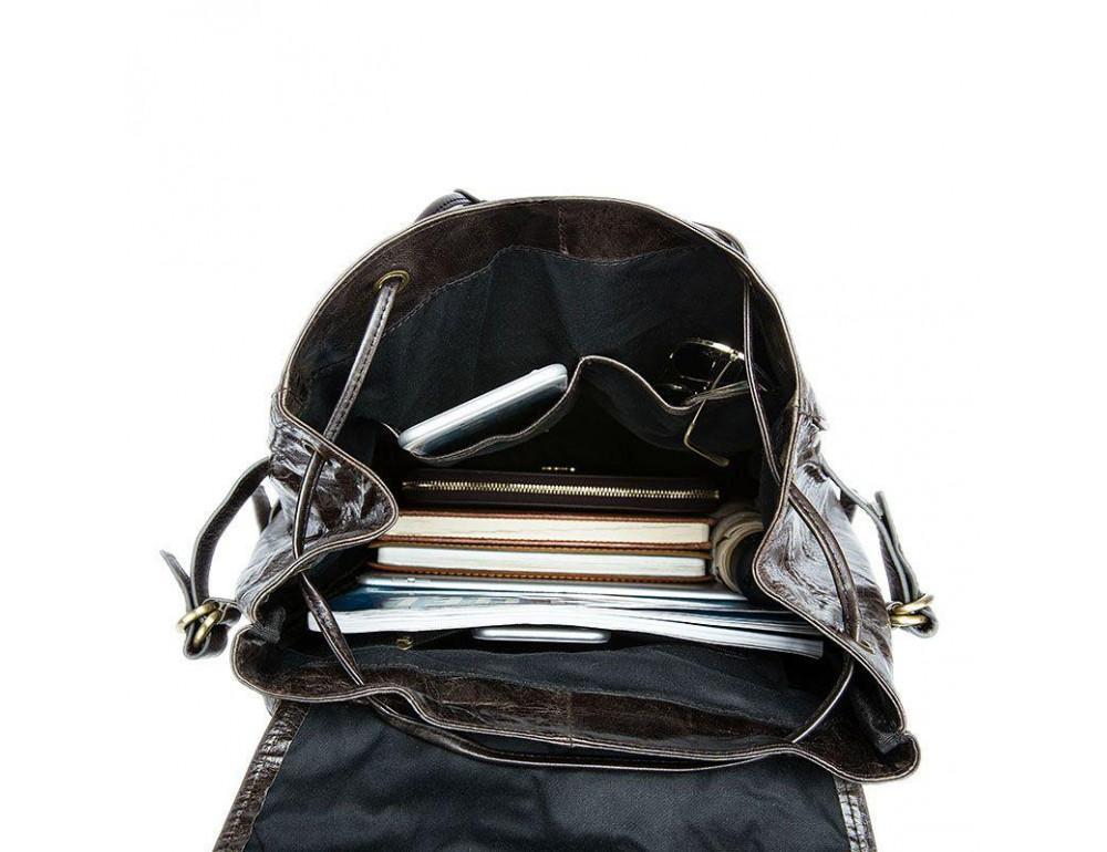 Серо-коричневый кожаный рюкзак JASPER MAINE 8818BG - Фото № 4