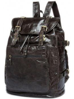 Темно-сірий шкіряний рюкзак JASPER MAINE 8818BG