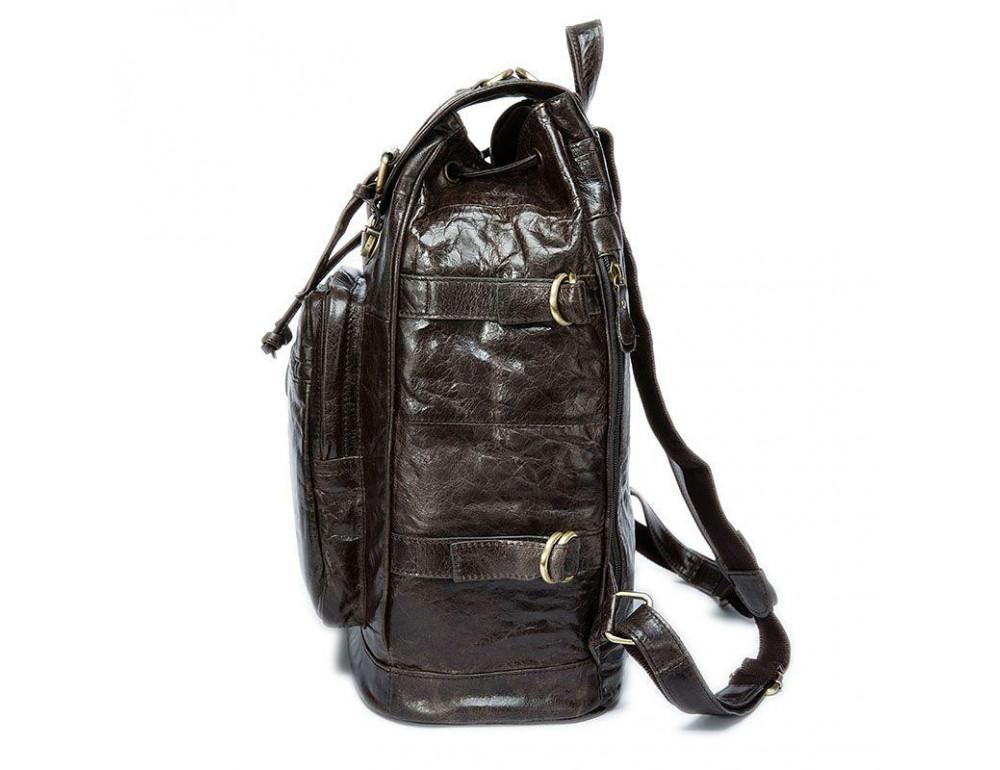 Серо-коричневый кожаный рюкзак JASPER MAINE 8818BG - Фото № 7