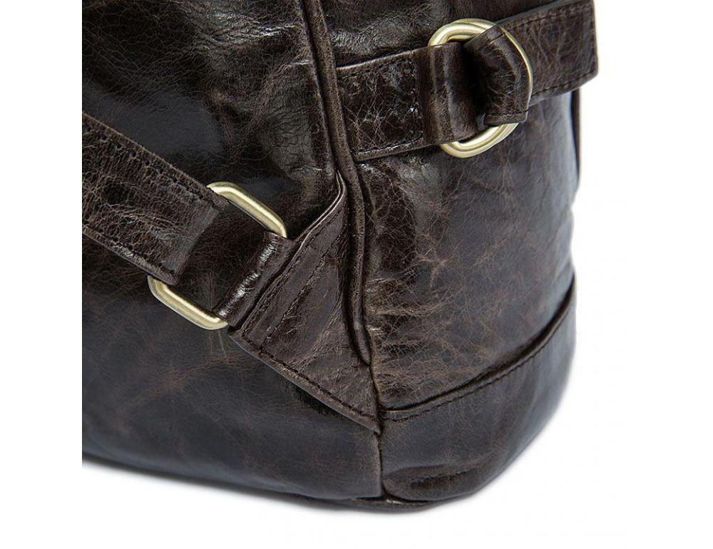 Серо-коричневый кожаный рюкзак JASPER MAINE 8818BG - Фото № 8