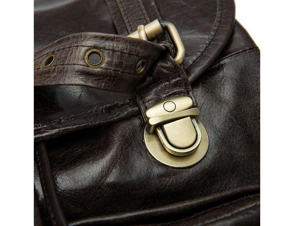 Серо-коричневый кожаный рюкзак JASPER MAINE 8818BG - Фото № 9