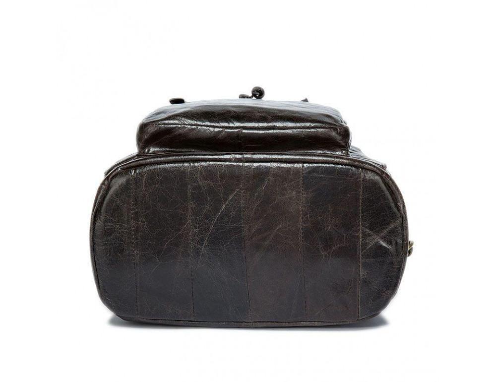 Серо-коричневый кожаный рюкзак JASPER MAINE 8818BG - Фото № 10