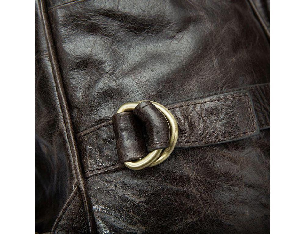 Серо-коричневый кожаный рюкзак JASPER MAINE 8818BG - Фото № 12