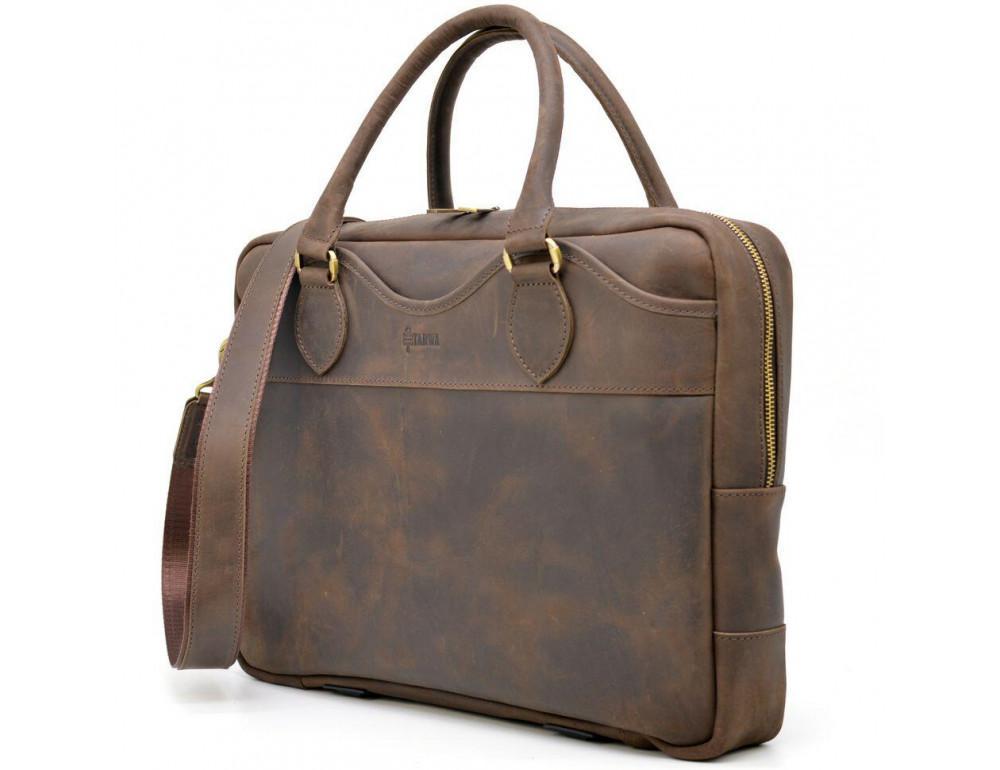 Коричневый кожаный портфель TARWA RC-8839-4lx - Фото № 2