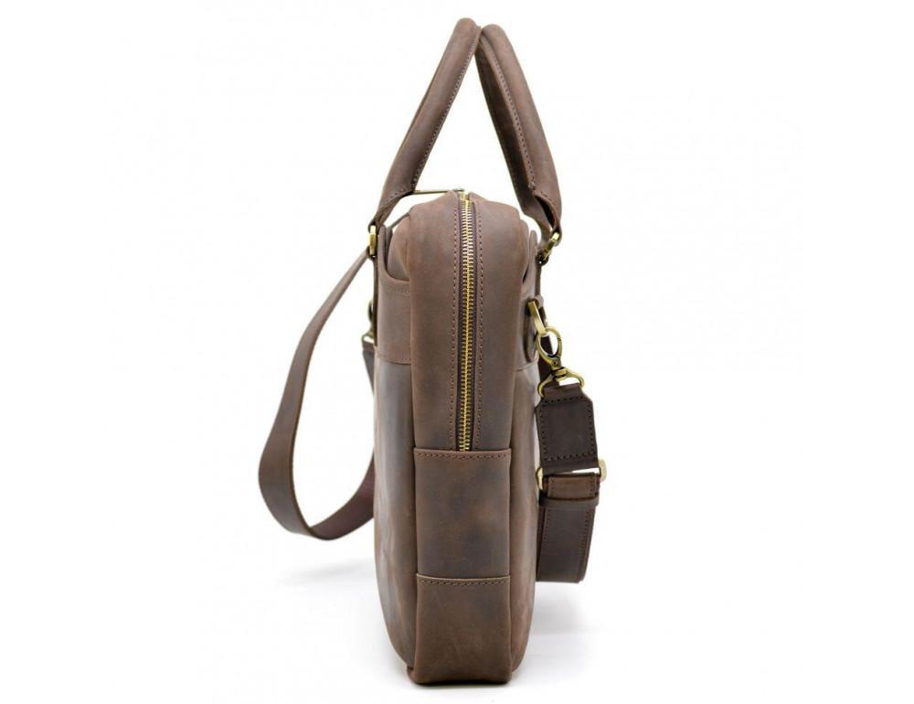Коричневый кожаный портфель TARWA RC-8839-4lx - Фото № 3