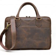 Коричневый кожаный портфель TARWA RC-8839-4lx