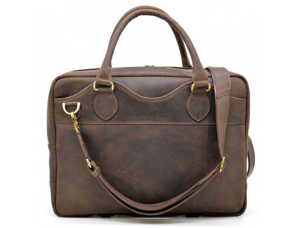 Коричневый кожаный портфель TARWA RC-8839-4lx - Фото № 4