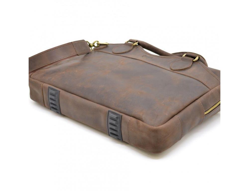 Коричневый кожаный портфель TARWA RC-8839-4lx - Фото № 5