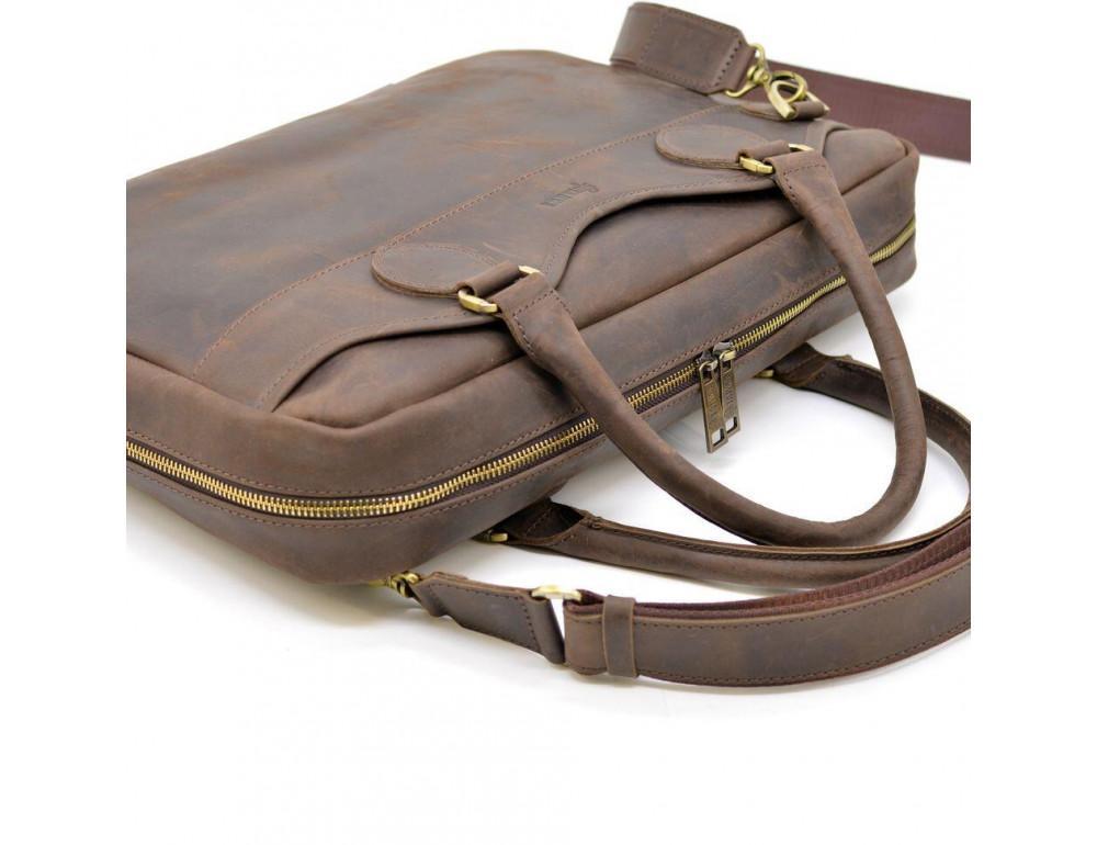 Коричневый кожаный портфель TARWA RC-8839-4lx - Фото № 6