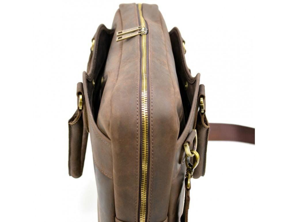 Коричневый кожаный портфель TARWA RC-8839-4lx - Фото № 7