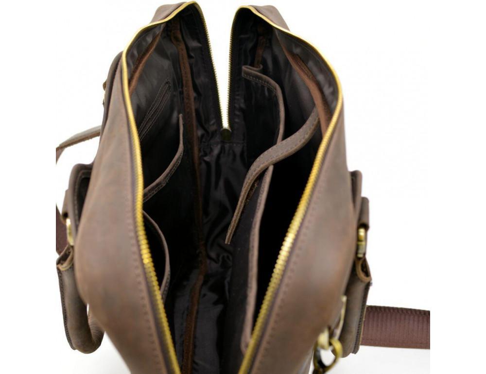 Коричневый кожаный портфель TARWA RC-8839-4lx - Фото № 8