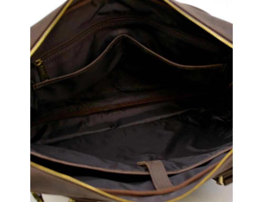Коричневый кожаный портфель TARWA RC-8839-4lx - Фото № 9