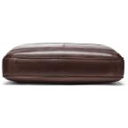 Тёмно-коричневый кожаный портфель Tiding Bag 8841C - Фото № 105