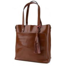 Коричнева шкіряна жіноча сумка Grays GR-8870LB