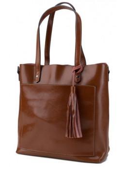 Коричневая кожаная женская сумка Grays GR-8870LB
