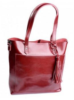 Красная кожаная сумка женская Grays GR-8870R