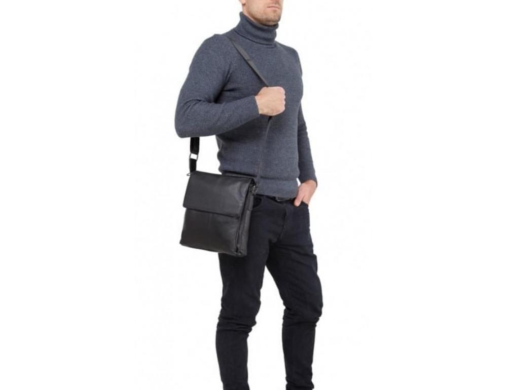 Мужская кожаная сумка-мессенджер Tiding Bag A25-8871A - Фото № 2