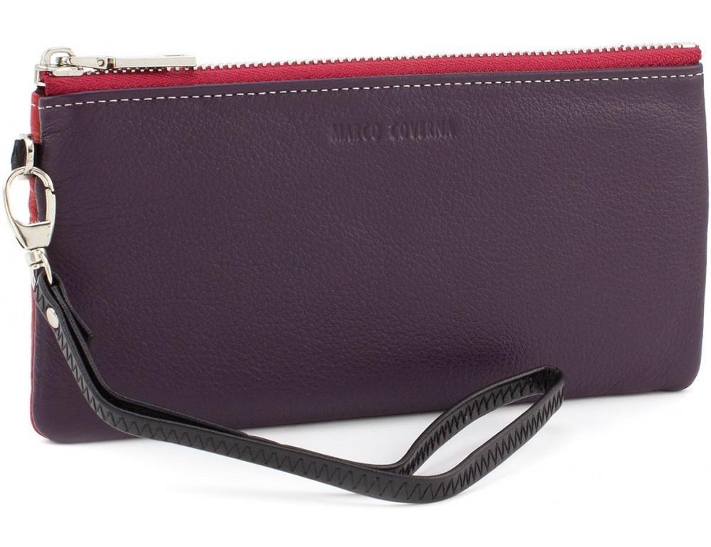 Фиолетово красный женский кошелёк на молнии Marco Coverna MC88806-25