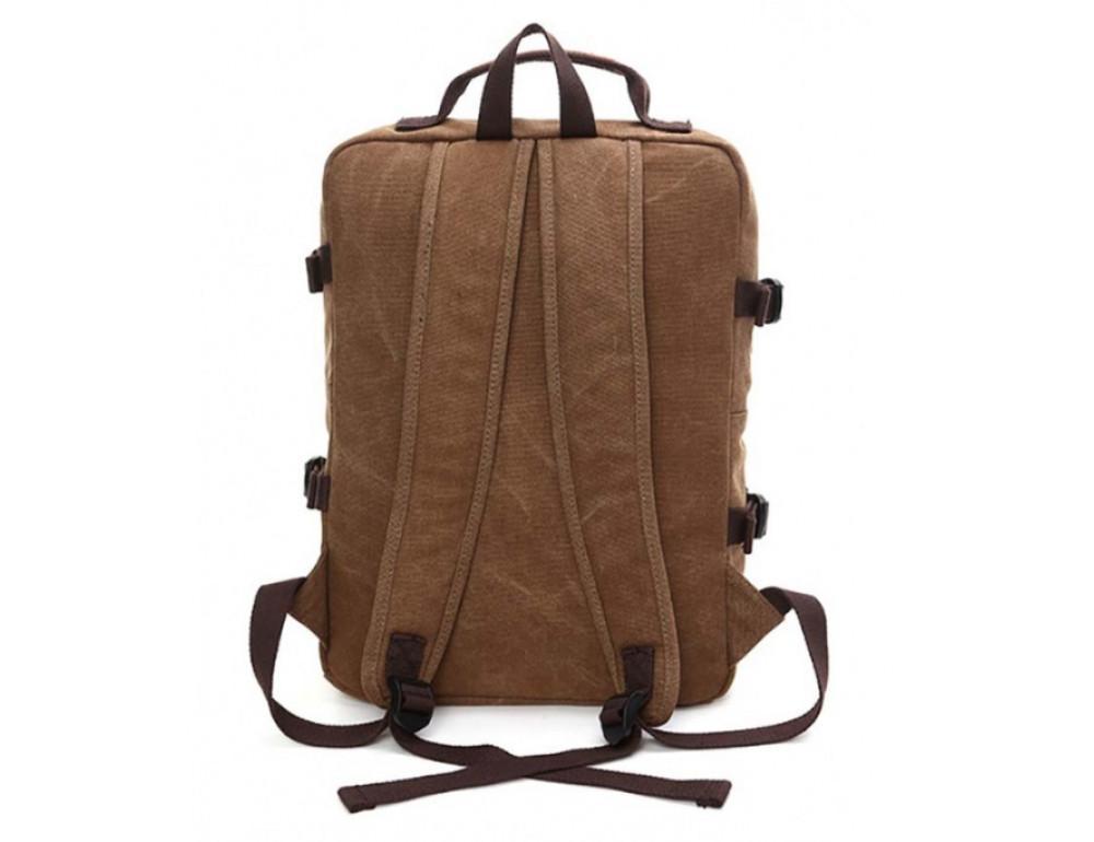 Мужской рюкзак Tiding Bag 9018C коричневый - Фото № 2