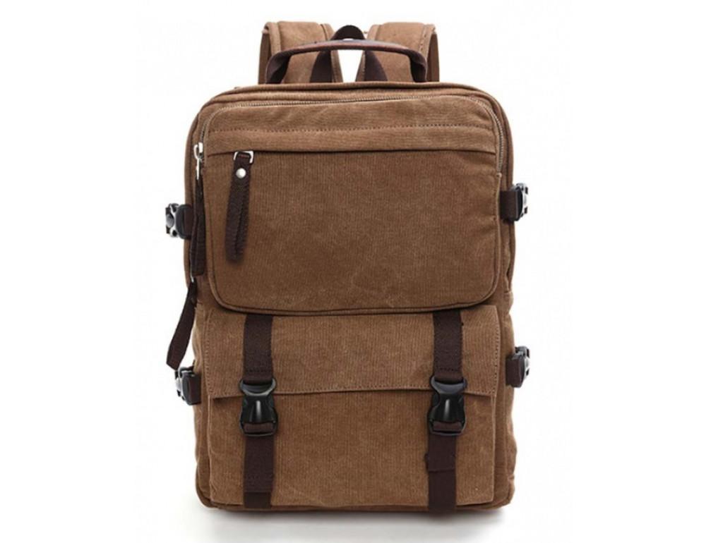 Мужской рюкзак Tiding Bag 9018C коричневый - Фото № 3