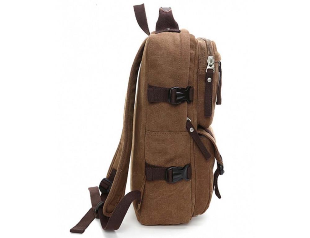 Мужской рюкзак Tiding Bag 9018C коричневый - Фото № 4