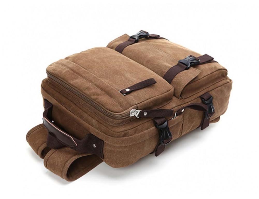 Мужской рюкзак Tiding Bag 9018C коричневый - Фото № 5