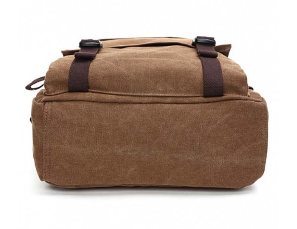 Мужской рюкзак Tiding Bag 9018C коричневый - Фото № 6