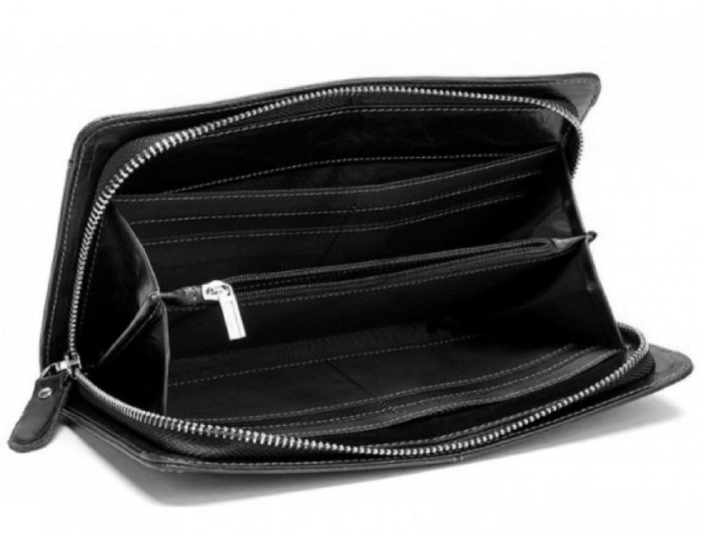 Мужской кожаный клатч Bexhill Bx9020A Чёрный - Фото № 2