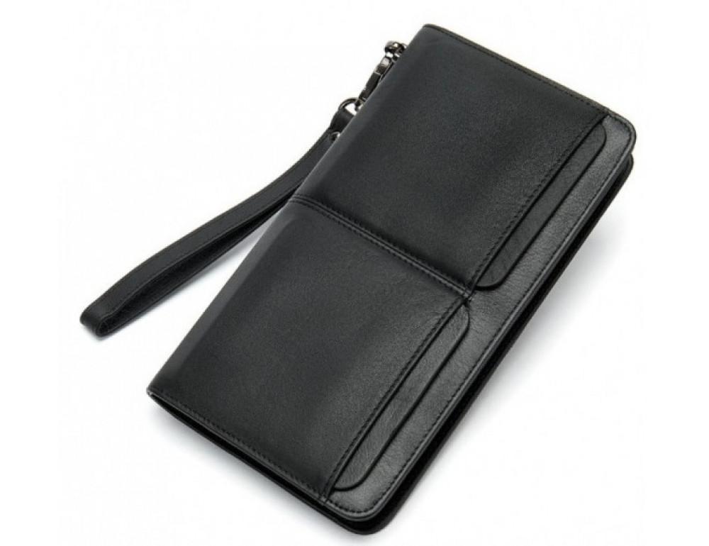 Мужской кожаный клатч Bexhill Bx9020A Чёрный - Фото № 1
