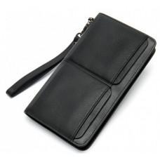 Мужской кожаный клатч Bexhill Bx9020A Чёрный