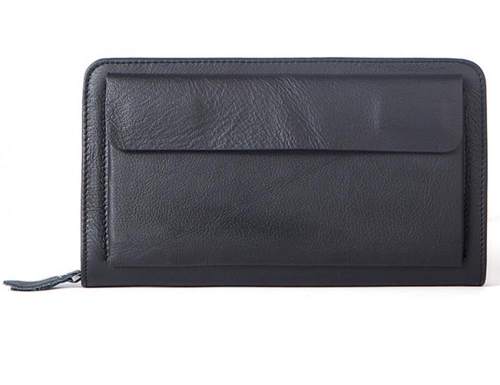 Чёрный мужской кожаный клатч Bexhill Bx9069A
