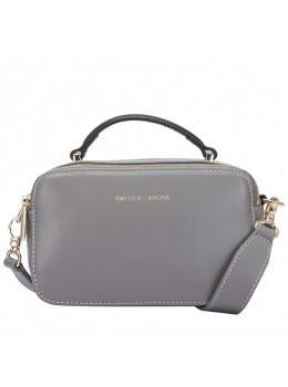 Маленькая женская кожаная сумочка Smith & Canova 92658 GREY