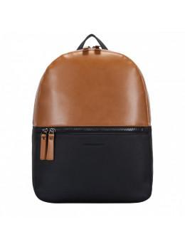 Рудий з чорним шкіряний рюкзак Smith & Canova Francis 92901 BLK-TAN