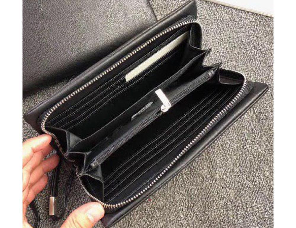 Чёрный кожаный клатч 9360-05 - Фото № 2