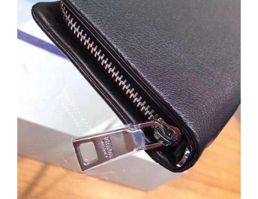 Чёрный кожаный клатч 9360-05 - Фото № 6