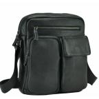 Черная кожаная мужская сумка-мессенджер Tiding Bag 9812-1A - Фото № 100