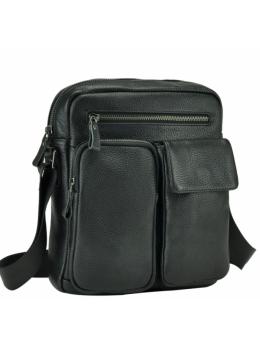 Черная кожаная мужская сумка-мессенджер Tiding Bag 9812-1A
