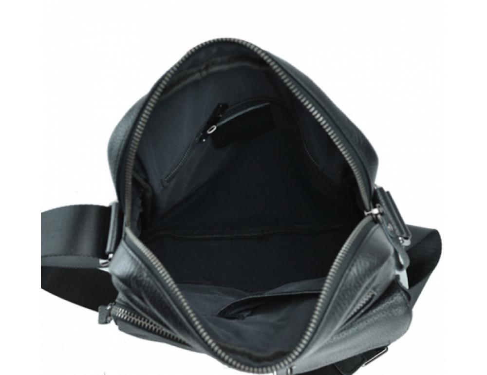 Черная кожаная мужская сумка-мессенджер Tiding Bag 9812-1A - Фото № 2