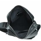 Черная кожаная мужская сумка-мессенджер Tiding Bag 9812-1A - Фото № 101