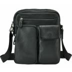 Черная кожаная мужская сумка-мессенджер Tiding Bag 9812-1A - Фото № 102