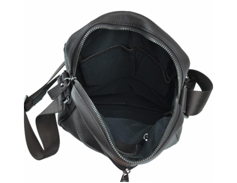 Тёмно-коричневая кожаная мужская сумка-мессенджер Tiding Bag 9812-1C - Фото № 2