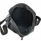Тёмно-коричневая кожаная мужская сумка-мессенджер Tiding Bag 9812-1C - Фото № 101
