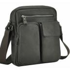 Тёмно-коричневая кожаная мужская сумка-мессенджер Tiding Bag 9812-1C - Фото № 100